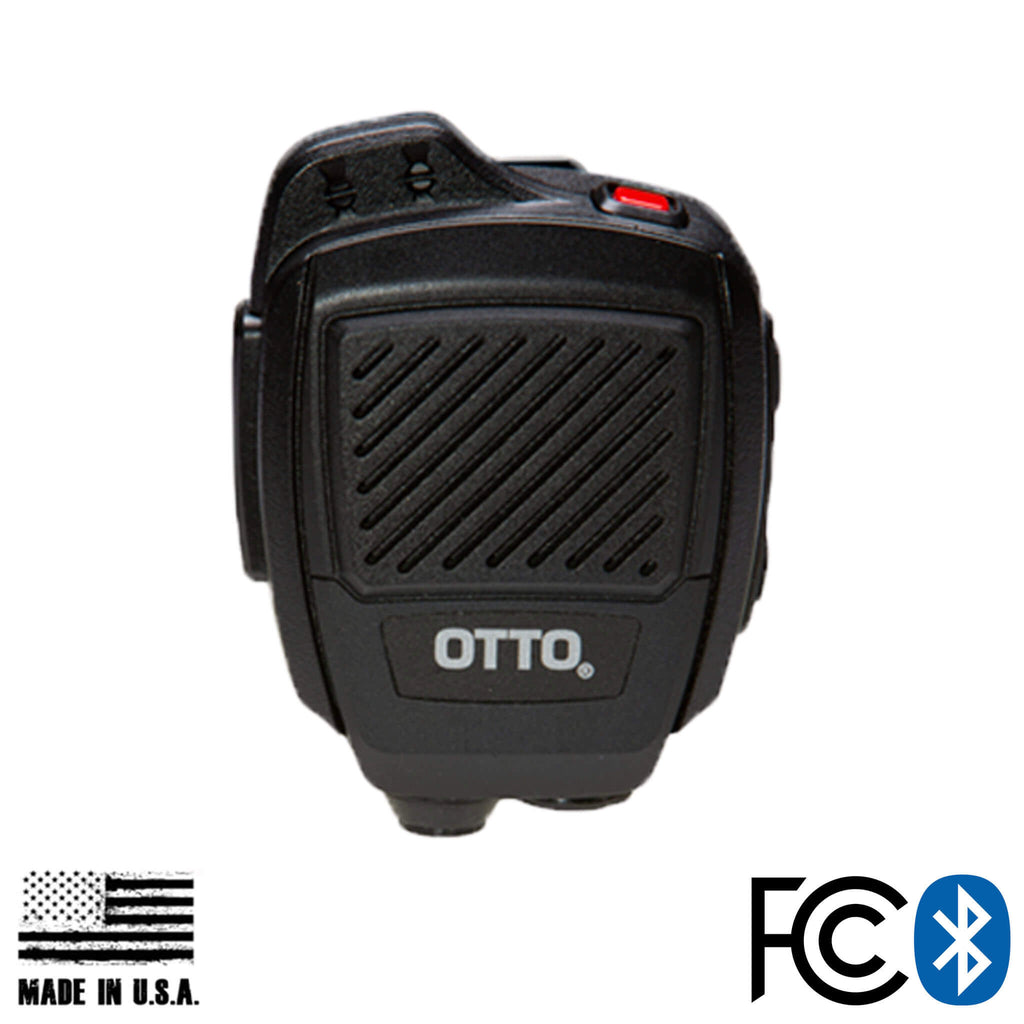 V2-R2BT53133-A Bluetooth OTTO USA Made Speaker Mic & Adapter For Harris: HPD150, HPD100 Momentum & More