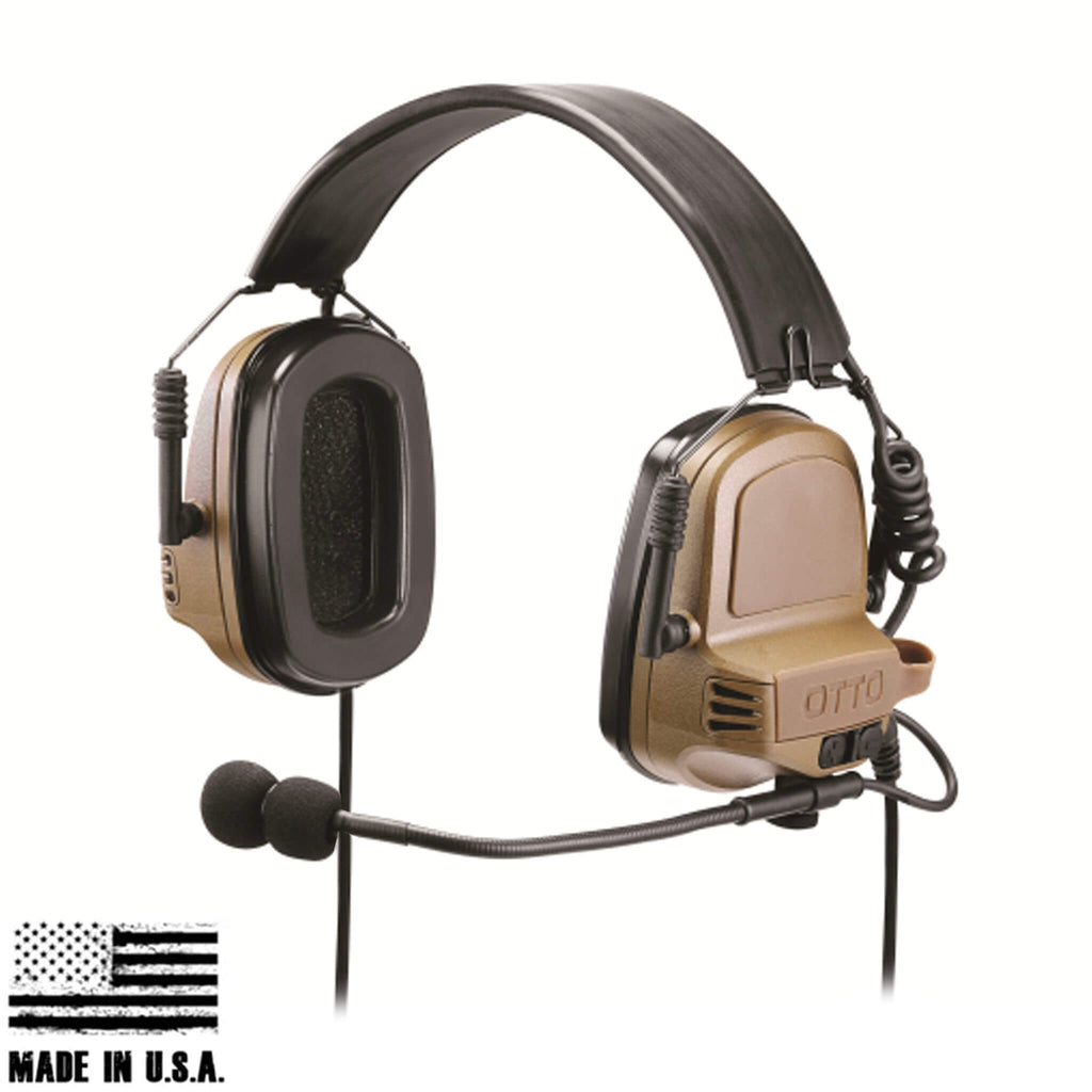 OTTO TAC NoizeBarrier Tactical Radio Headset w/ Active Hearing Protection - headset only V4-11033FD, V4-11033BK, or V4-11033OD
