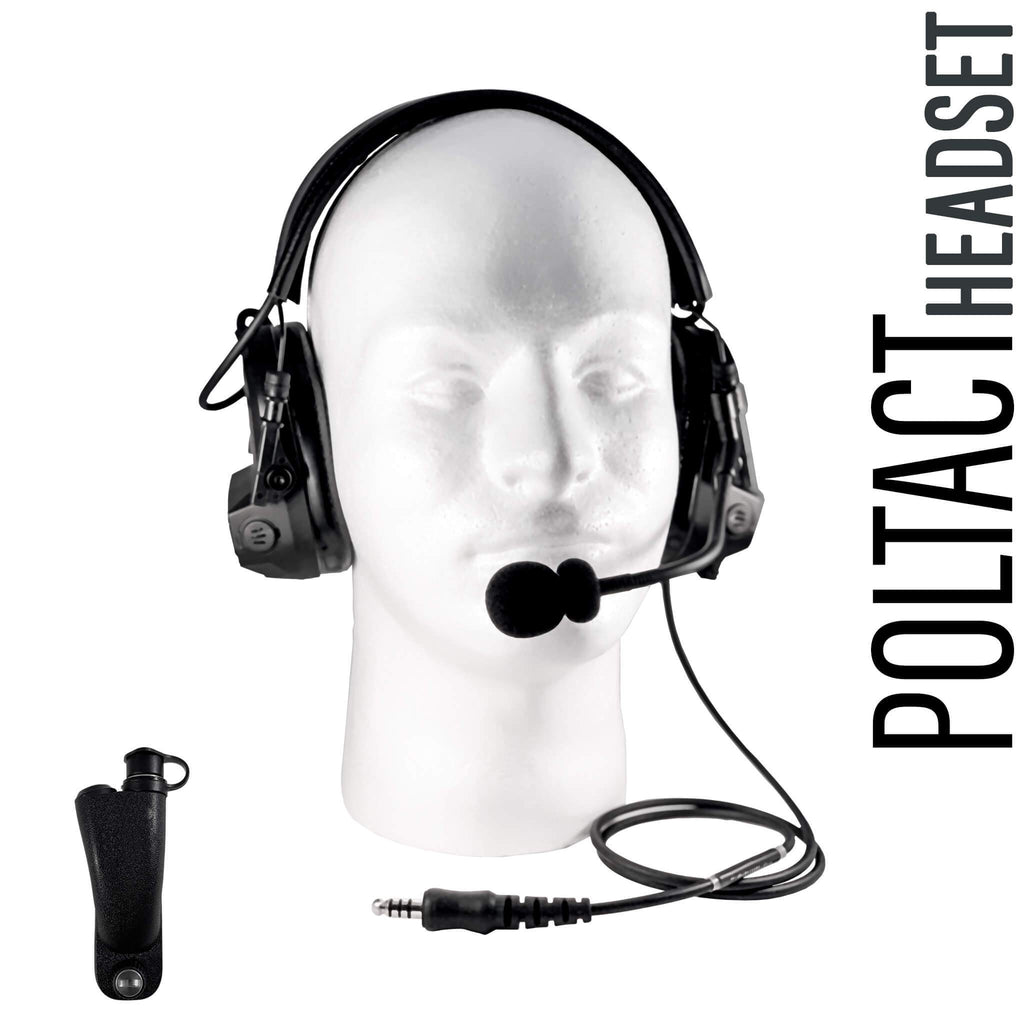 Tactical Radio Headset w/ Active Hearing Protection & Release Adapter - PTH-V1-34RR The Material Comms PolTact Headset & Push To Talk(PTT) Adapter For Motorola APX900, APX1000, APX2000, APX3000, APX4000, APX5000 APX6000/LI/XE APX7000/L/XE APX8000 SRX2200 XPR6100 XPR6300 XPR6350 XPR6380 XPR6500 XPR6550 PR6580 XPR7350/e XPR7380/e XPR7550/e XPR7580/e DP3400 DP3401 DP3600 DP3601 & More. U94