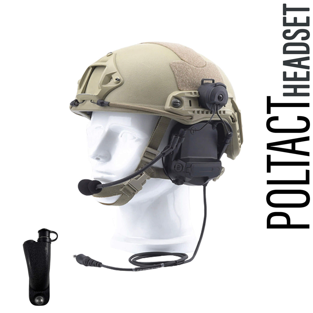 Tactical Radio Headset w/ Active Helmet Hearing Protection & Release Adapter - PTH-V2-34RR The Material Comms PolTact Helmet Headset & Push To Talk(PTT) Adapter For Motorola APX900, APX1000, APX2000, APX3000, APX4000, APX5000 APX6000/LI/XE APX7000/L/XE APX8000 SRX2200 XPR6100 XPR6300 XPR6350 XPR6380 XPR6500 XPR6550 PR6580 XPR7350/e XPR7380/e XPR7550/e XPR7580/e