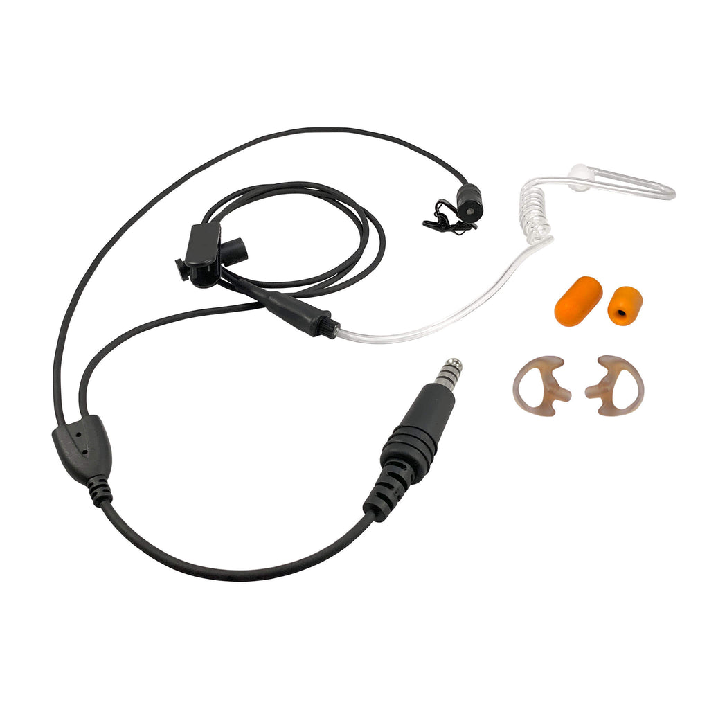 Tactical Mic / Earpiece / PTT Kit - Upgrade Kit Kit, No Adapter Lo Vis R23 Single Comm Ruggedized Earpiece atlantic signal TCI safariland tecs tactical enforcement communication system
