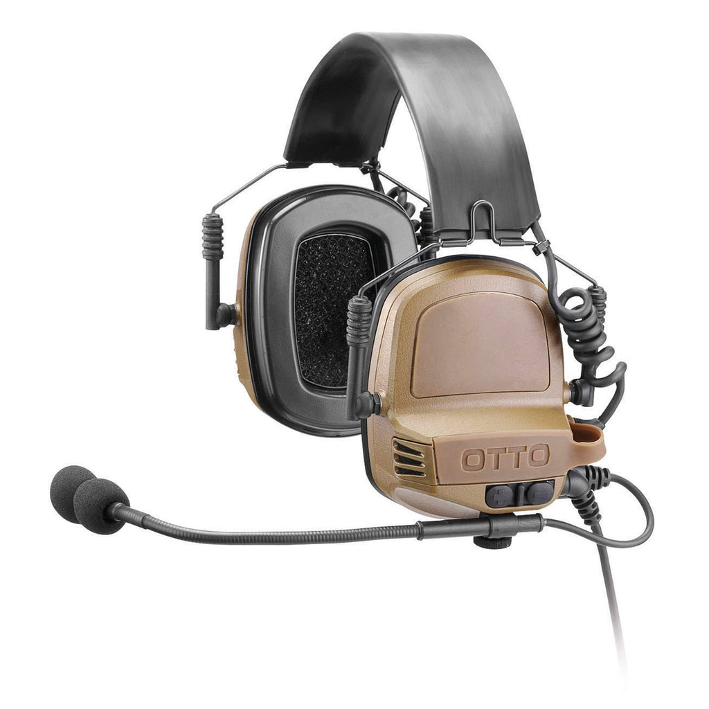 OTTO TAC NoizeBarrier Tactical Radio Headset w/ Active Hearing Protection - Kenwood Multi-Pin TK & NX Series, EF Johnson VP5000 VP6000 Series V4-11032FD V4-11032BK V4-11032OD V4-11033FD V4-11033BK V4-11033OD V4-11054BK V4-11055BK V4-11056BK V4-11058BK V4-11082BK