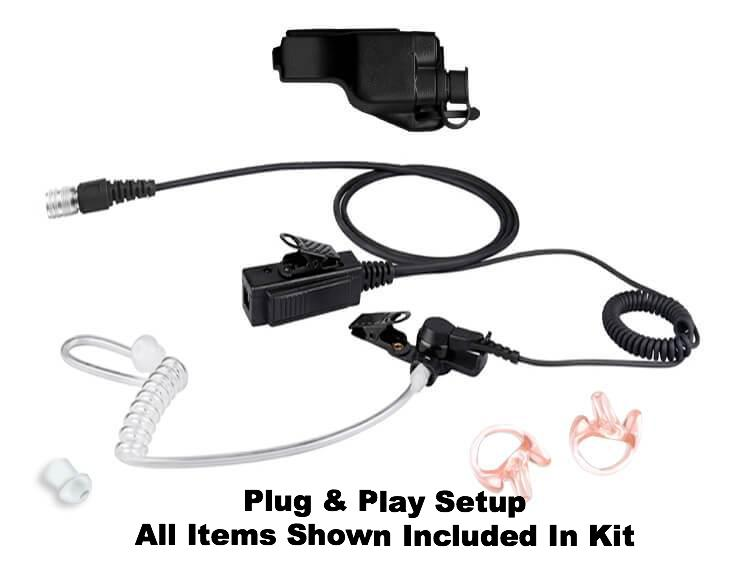 Mic & Earpiece Kit Radio - Motorola XTS Series, MT2000, MTS2000, HT1000, PR1500 & More