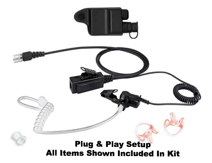 Mic & Earpiece Radio Kit - Harris &  M/A-Com P7100, P7130, P7150,P7170, P5100, P5130, P5150 & More