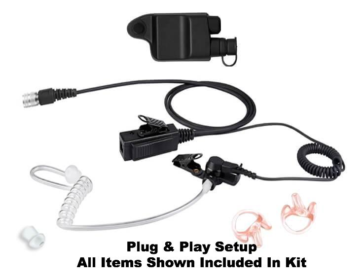 Mic & Earpiece Radio Kit - Harris P5300, P5400, P7300, XG-15, XG-25, XG-75 & More