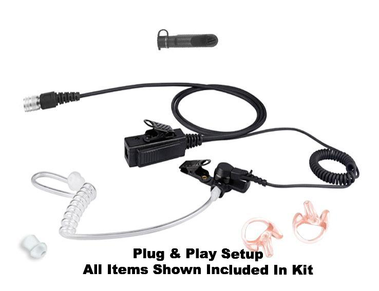 Mic & Earpiece Radio Kit Fits: Harris/Tait TP8100 Series, TP9300 Series , TP9400 Series, TP3000 Series, & More