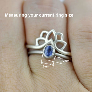 How to measure your ring for a fitted wedding ring.