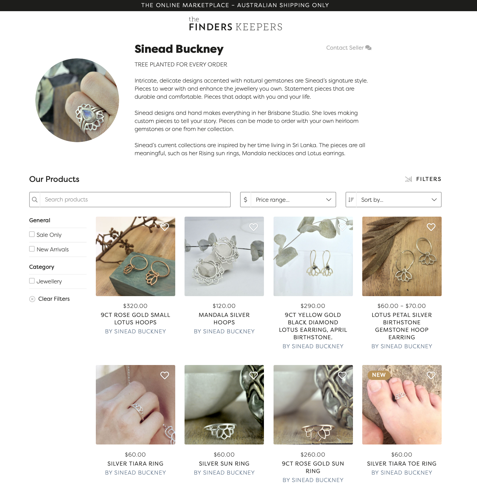 Sinead Buckney in Finders Keepers online directory