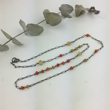 Orange Oxidised bead necklace