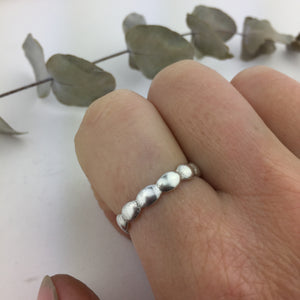 Overlapping Ovals Silver Ring