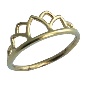 9ct Yellow Gold Tiara ring