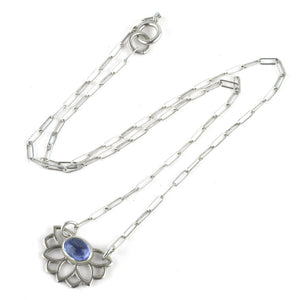 Lotus Wings Tanzanite Silver necklace