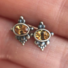 Single or pair earring, yellow sapphire silver studs.