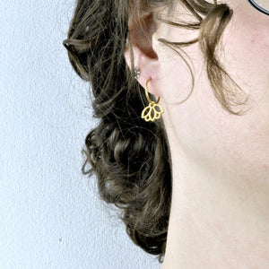18ct Yellow Gold Small Sleeper Hoops