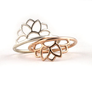 9ct Rose Gold Sun ring