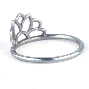 Platinum Sun Ring