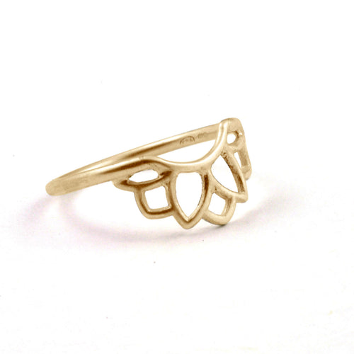 14kt Yellow Gold fitted Sun ring
