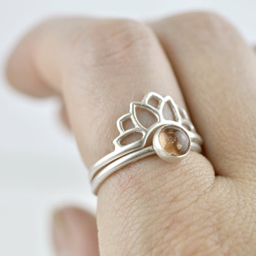 Silver fitted Sun ring