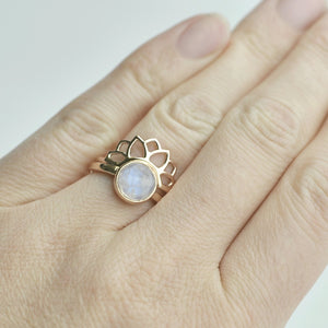 9ct Rose Gold fitted Sun ring