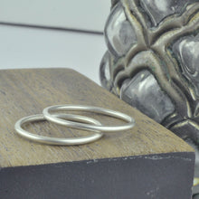 Silver plain sample ring for sizing
