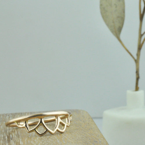 14k rose gold Tiara ring.