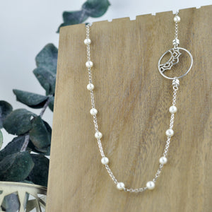 Removable Pendant Pearl Silver necklace