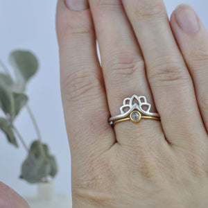 Fitted Wishbone Silver Ring Set
