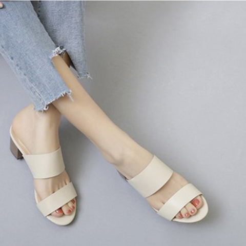 Women Daily Slip On Chunky Heel Pumps