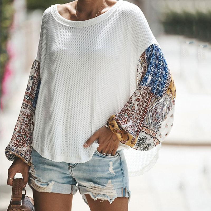 Casual Loose Color Matching Long-Sleeved Knitting Shirt