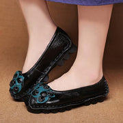Women Round Toe National Style Soft Bottom Casuals