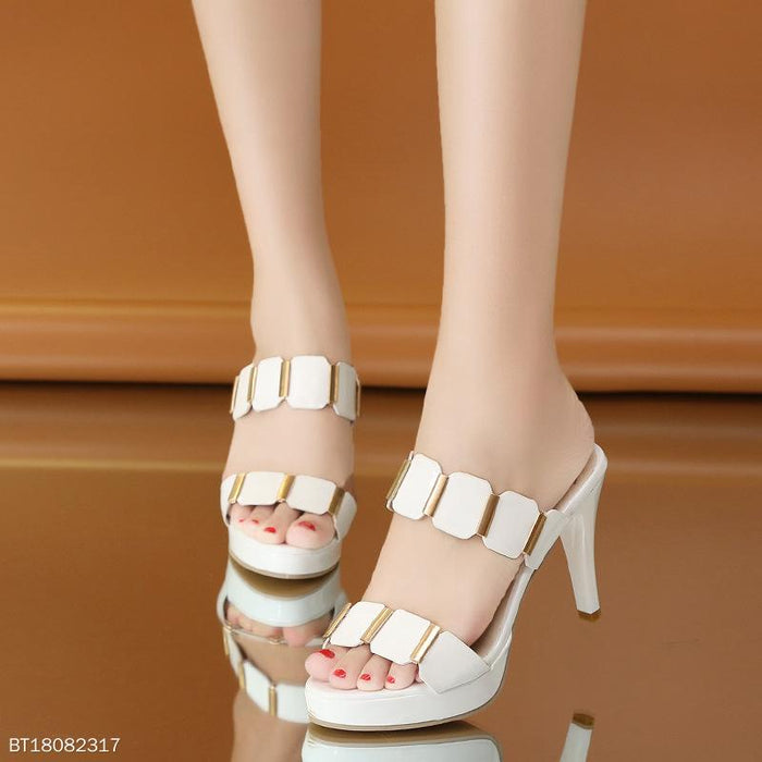 Summer Elegant Women Slipper Stiletto Heel  Platform Sandals