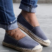 Women Plain Round Toe Casuals Cotton Fabric Shoes
