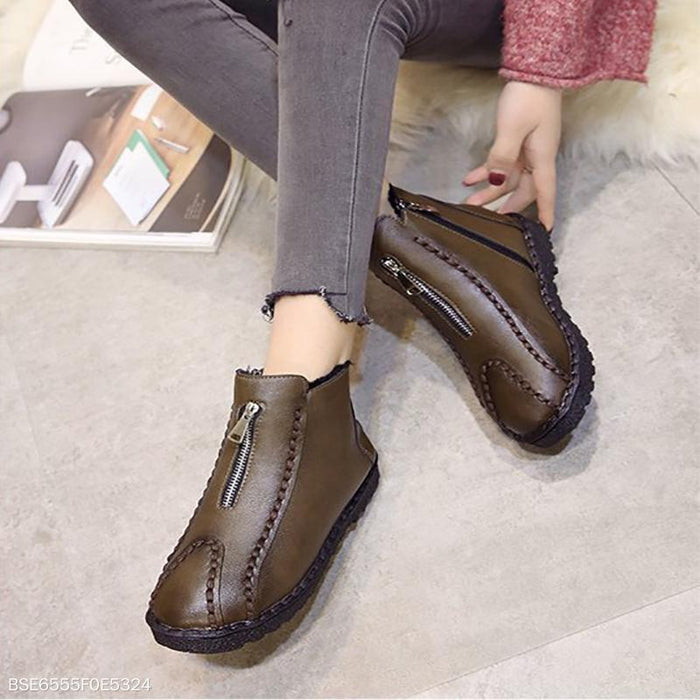 Flat Martin Ankle Boots