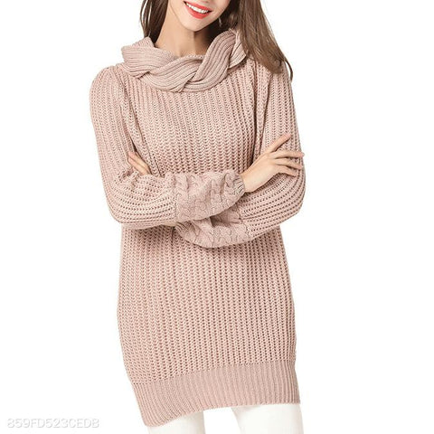 Fashion Plain Thick Sweater