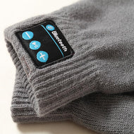 Winter Plain Blue Tooth Touch Screen Gloves