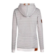 Fashion Youth Nifty Loose Strip Long Sleeve Hoodie Top