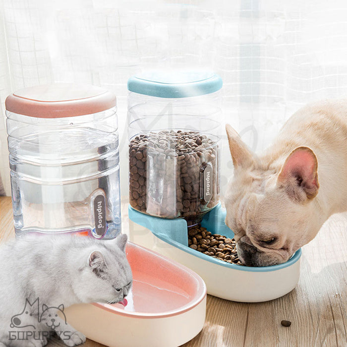 Large Automatic Pet Food Drink Dispenser For Dog Cat Feeder