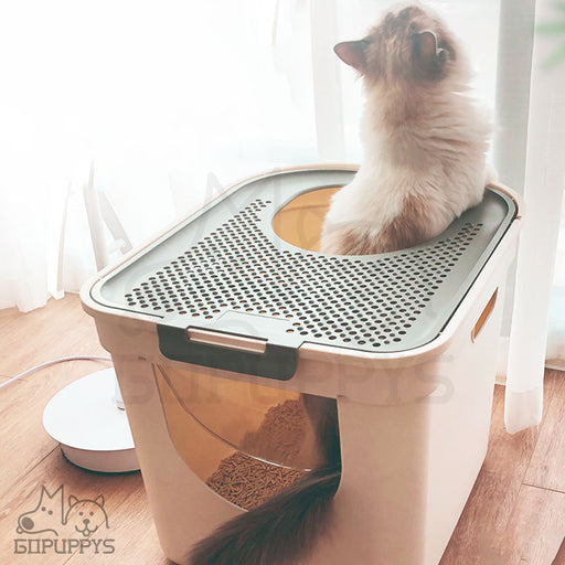 Cat litter box easy to clean up