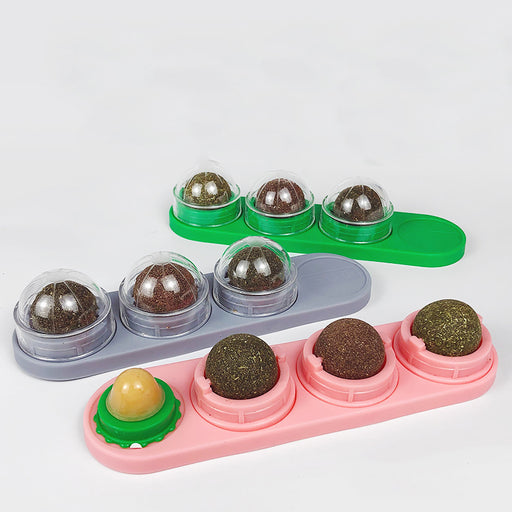 Pet Cat Four In One Snack Spinning Mint Ball