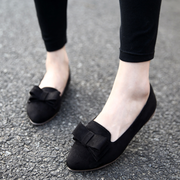Women Bow-Knot Point Toe Casuals Slip-On Shoes