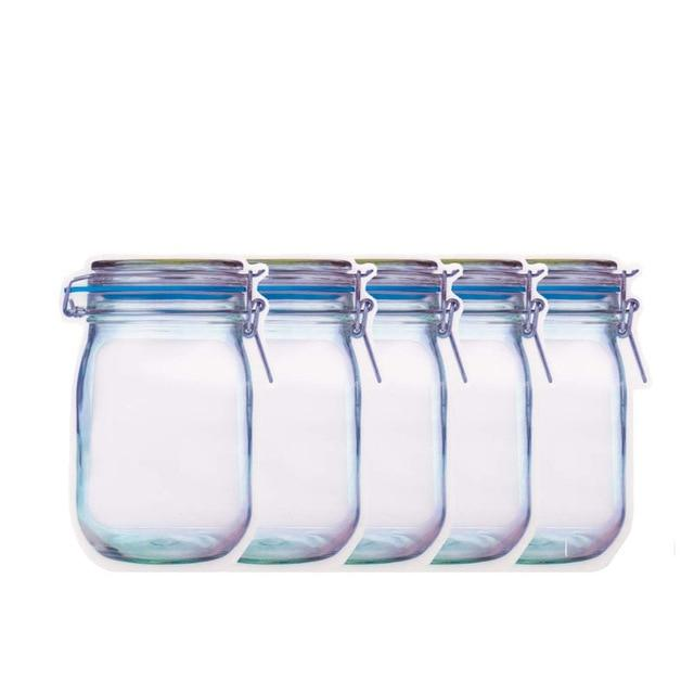Reusable Mason Bottle Ziplock Bag (10PCS SET)