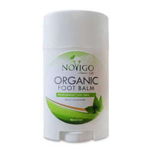 Organic Foot Balm (Peppermint Tea Tree) for Dry, Itchy, Scaly or Cracked feet.