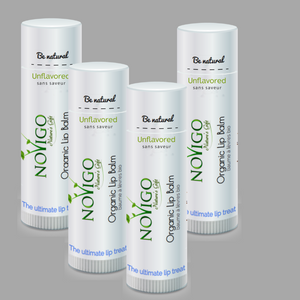 Unflavored Organic Lip Balm (4 Pack) for Nourishing and Hydrating Chapped, Cracked Lips