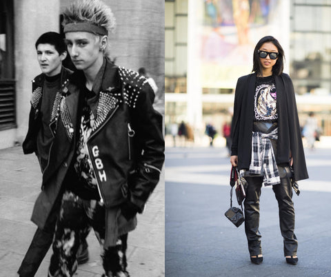 Punk style now and in the seventies