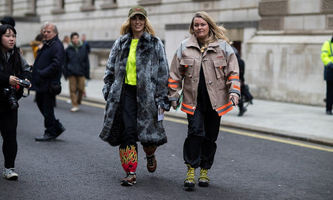 What are people wearing at 2021 London's Fashion Week
