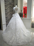 A-line ball gown with train