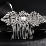 Miallo Elegant Wedding Hair Combs for Bride Crystal Rhinestones Pearls Women Hairpins Bridal Headpiece Hair Jewelry Accessories