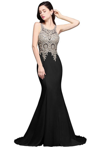 Robe de Soiree Longue Sexy Sheer Back Beaded Lace Mermaid Evening Dress  Long White Evening Gown Vestido de Festa