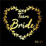 Wedding Decorations Accessories Team Bride Team Groom Bride to be Flash Temporary Tattoos Sticker Bachelorette Hen Party Decor
