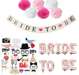 Team Bride To Be Balloons Just Married Banner Wedding Decoration Bridal Shower Photobooth Bachelorette Party Supplies
